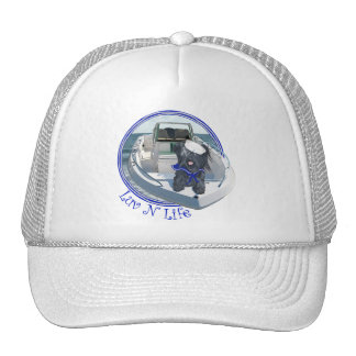 Skye Terrier out on the Boat Trucker Hat