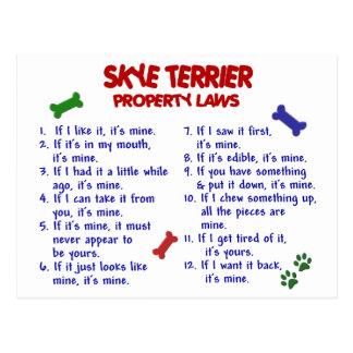 SKYE TERRIER Property Laws 2 Postcard