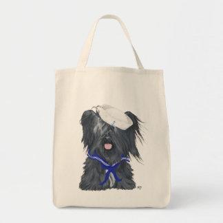 Skye Terrier Sailor Beach Tote Canvas Bags