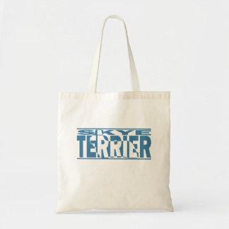 Skye Terrier Silhouette Tote Bag