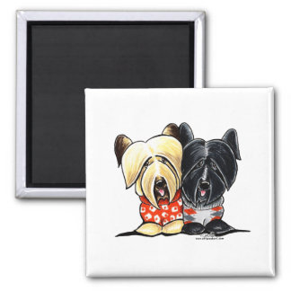 Skye Terrier Sweaters 2 Inch Square Magnet