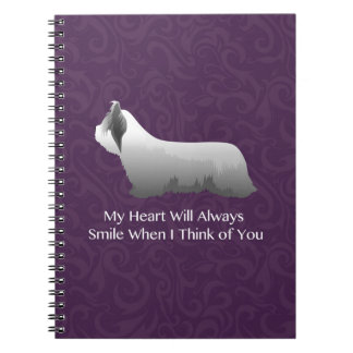 Skye Terrier Thinking of You Design Spiral Notebook