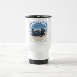 Skye Terriers, Beach Day Travel Mug!