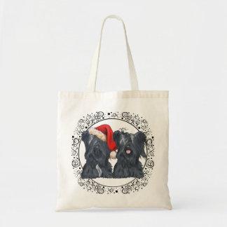 Skye Terriers Waiting for Santa Tote Bag