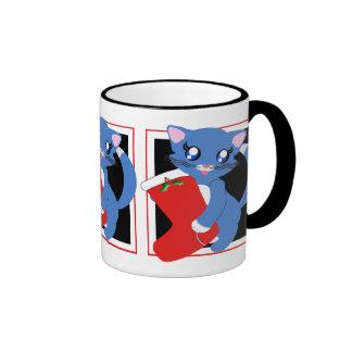 Skye Toon Kitten Holiday Stocking Mug