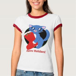 Skye Toon Kitten Holiday Stocking Shirt