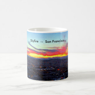 Skyfire over San Francisco Coffee Mug