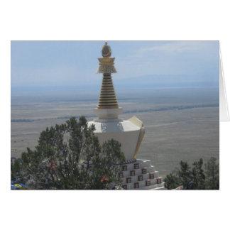 Skygazing del Stupa Tarjeta De Felicitación