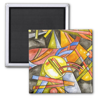Skyjumper -Geometric Handpainted Abstract Art Magnet