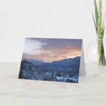 Skykomish Valley in Snow Holiday Card