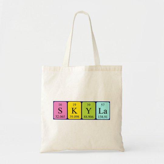 Skyla periodic table name tote bag