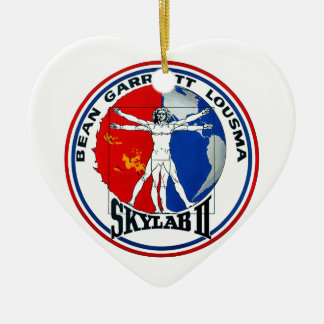 Skylab 2 Mission Patch Double-Sided Heart Ceramic Christmas Ornament