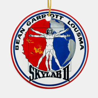 Skylab 2 Mission Patch Double-Sided Ceramic Round Christmas Ornament