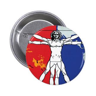Skylab 2 Vitruvian Man Mission Patch Button