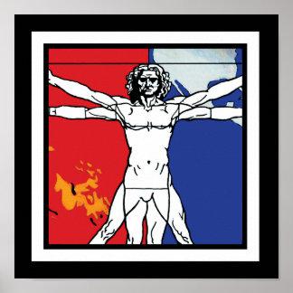 Skylab 2 Vitruvian Man Mission Patch Logo Poster