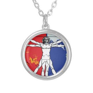 Skylab 2 Vitruvian Man Mission Patch Logo Round Pendant Necklace