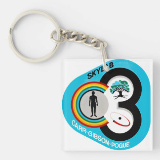 Skylab 3 Mission Patch Double-Sided Square Acrylic Keychain