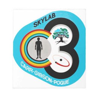 Skylab 3 Mission Patch Notepad