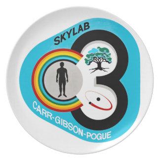 Skylab 3 Mission Patch Party Plate