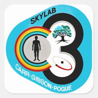 Skylab 3 Mission Patch Square Sticker