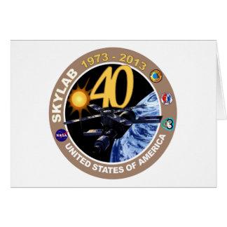 SKYLAB:  40.o ¡Logotipo del aniversario! Felicitación