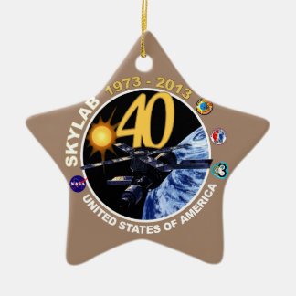 SKYLAB:  40th Anniversary Logo! Ceramic Ornament