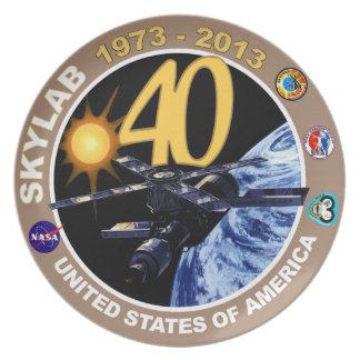 SKYLAB:  40th Anniversary Logo! Melamine Plate