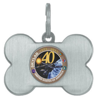SKYLAB:  40th Anniversary Logo! Pet Name Tag