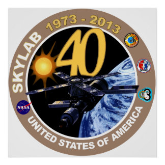 SKYLAB:  40th Anniversary Logo! Poster