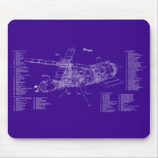Skylab blueprint mouse pad