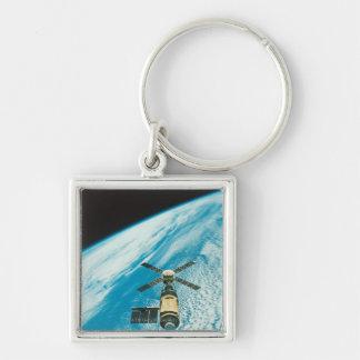 Skylab over Earth Key Chain