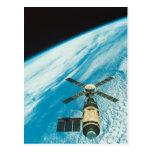 Skylab sobre la tierra postales
