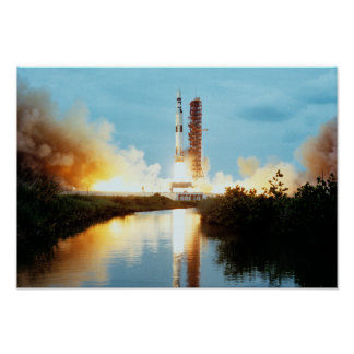 Skylab Space Station - Saturn V Launch Poster