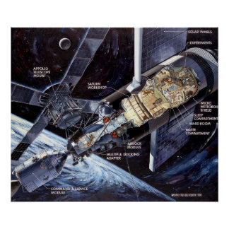 Skylab with the Command/Service Module Poster