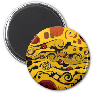 Skyland Abstract 2 Inch Round Magnet