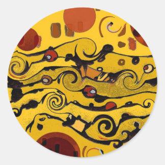 Skyland Abstract Classic Round Sticker
