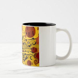 Skyland Abstract Two-Tone Coffee Mug
