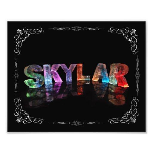 Skylar  - The Name Skylar in 3D Lights (Photograph