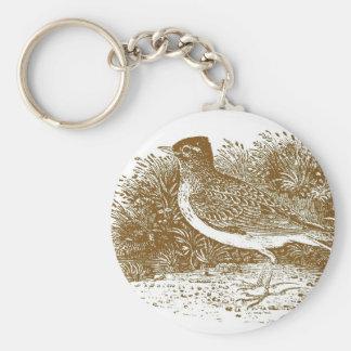 Skylark Woodcut Keychain
