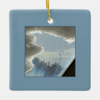 Skylight, Frost and Snow Ceramic Ornament