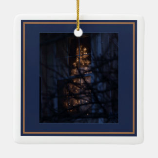 Skylight, Frost and Snow/Christmas Tree in the Fog Ceramic Ornament