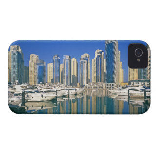 Skyline and boats on Dubai Marina iPhone 4 Case