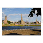 Skyline and river of quaint town of Inverness Greeting Cards