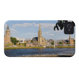 Skyline and river of quaint town of Inverness iPhone 4 Case