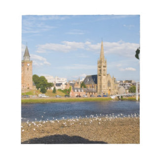 Skyline and river of quaint town of Inverness Notepad