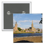 Skyline and river of quaint town of Inverness Pinback Button