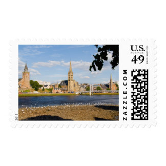 Skyline and river of quaint town of Inverness Postage
