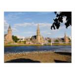 Skyline and river of quaint town of Inverness Post Card