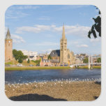 Skyline and river of quaint town of Inverness Stickers