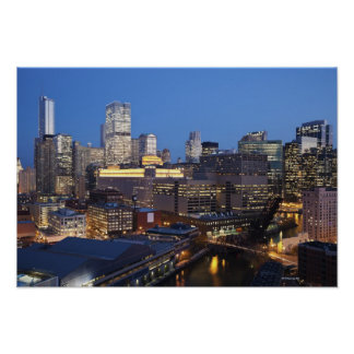 Skyline and River Poster